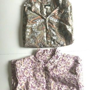 J. Crew Womens Long Sleeve COTTON Button Up Lot 2